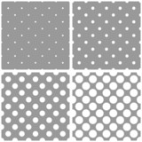 Fototapety Seamless vector white polka dots grey pattern background set