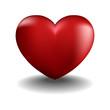объемное сердце на белом фоне