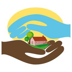 La casa di campagna nelle mani