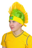 A fan of  Brazilian national football team