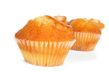 homemade magdalenas, typical spanish plain muffins