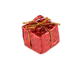 Decorative christmas red box.