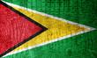 Guyana Flag painted on luxury crocodile texture