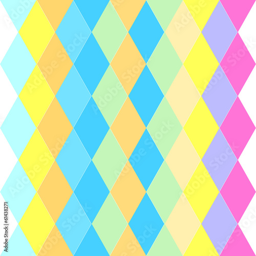 colorful abstract pattern of rhombuses