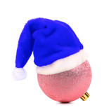 Santa's hat on decoration ball.