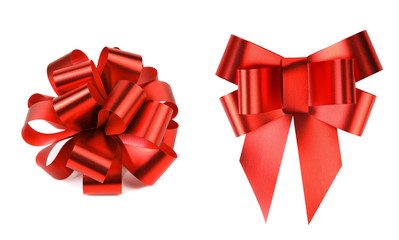 Two big red bows.