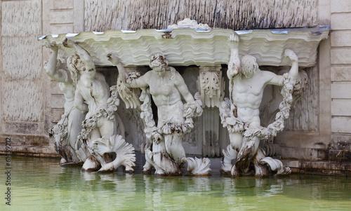 Neptune Fountain at the Schonbrunn Palace, Vienna, Austria