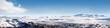 Leinwanddruck Bild - Icelandic ice desert landscape panorama 4x1 Ratio