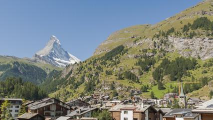 Zermatt, Walliser Bergdorf, Schweizer Alpen, Matterhorn
