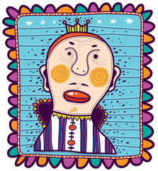 Portrait of King in childish style