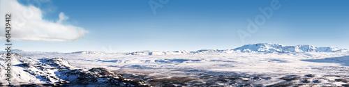 Icelandic ice desert landscape panorama 4x1 Ratio - 61439412