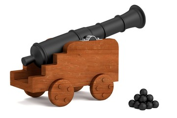 realistic 3d render of cannon