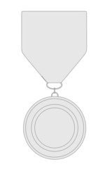 cartoon image of medal for winner
