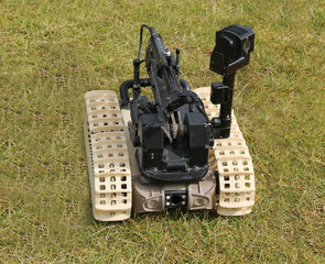 A Bomb Disposal Remote Control Robot Device.