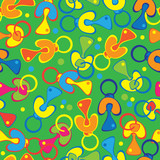 soothers colored seamless pattern