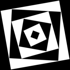 Psychedelic square in square