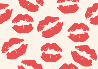 lips mark seamless background