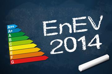 Kreidetafel mit EnEV 2014