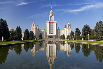 The building of Moscow University. Moscow. Russia
