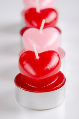 Heart shaped candels
