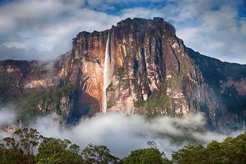 Close-up of Salto Angel in Venezuela
