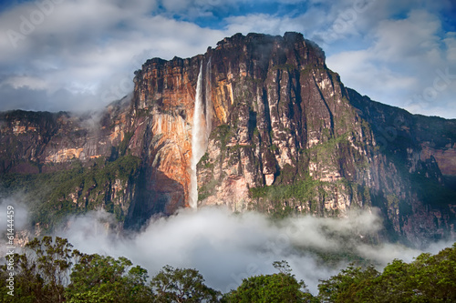 Close-up of Salto Angel in Venezuela - 61444459