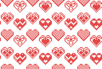Vector cross stitch embroidery seamless