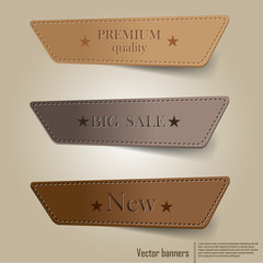 banners tags labels