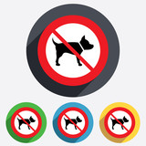 Dog sign icon. No Pets symbol.