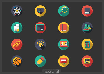 Flat icons school