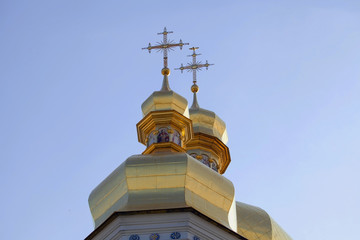 Cupolas of Caves Monastery in Kiev.