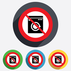 Do not wash. Washing machine icon.