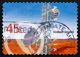 Postage stamp Australia 2001 Telecommunications, Outback Service