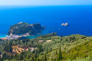 View of Paleokastritsa's bay. Corfu. Greece.