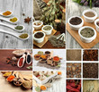 Collage of different aroma spices