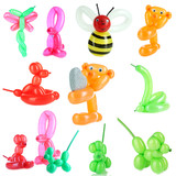 Collage of simple balloon animals isolated on white