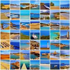 spanish beaches collage
