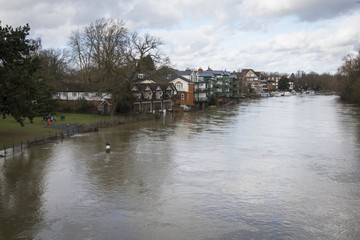 River in flood at Maidenhead