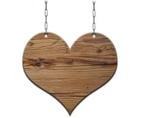 Holz Herz Schild