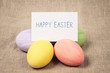 easter eggs with paper card