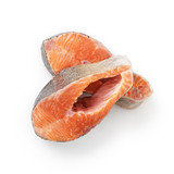 fresh raw trout steaks from above