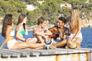 mediterranean vacation beach party