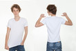 blank white t shirt back and front