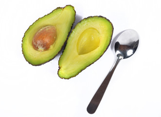 avocado with spoon