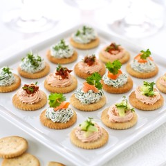 Finger food: Cream cheese cracker