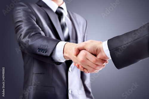 Photo of handshake of business partners