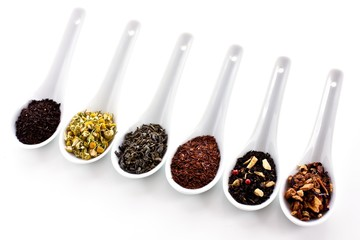 Collection of teas and infusions