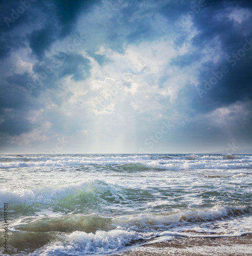 dark sky on a stormy sea