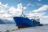 Cargo boat in dock, Norway