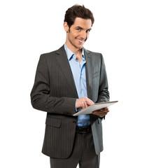 Geschäftsmann mit Tabletcomputer